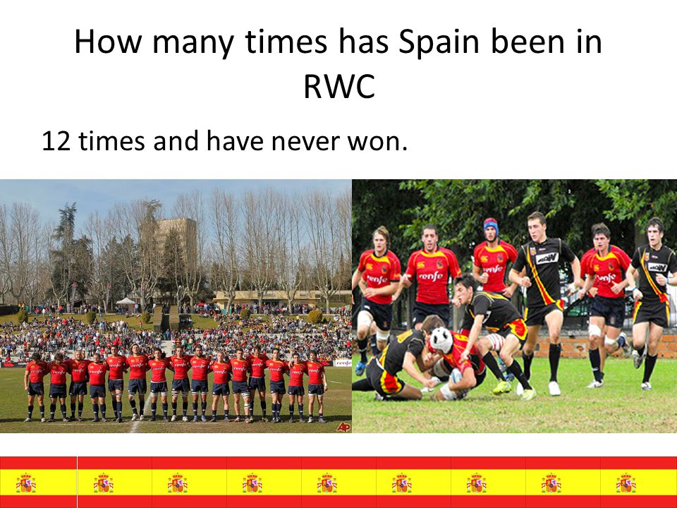 How many times has Spain been in RWC 12 times and have never won.