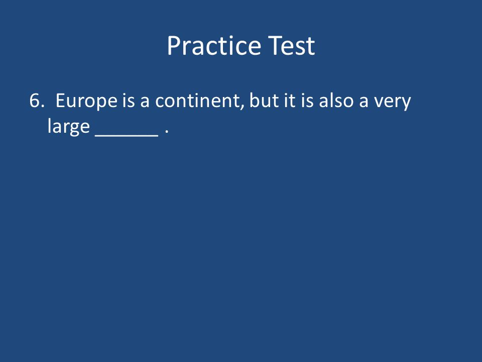 Practice Test 5. _______ is to exclude a person from church membership.