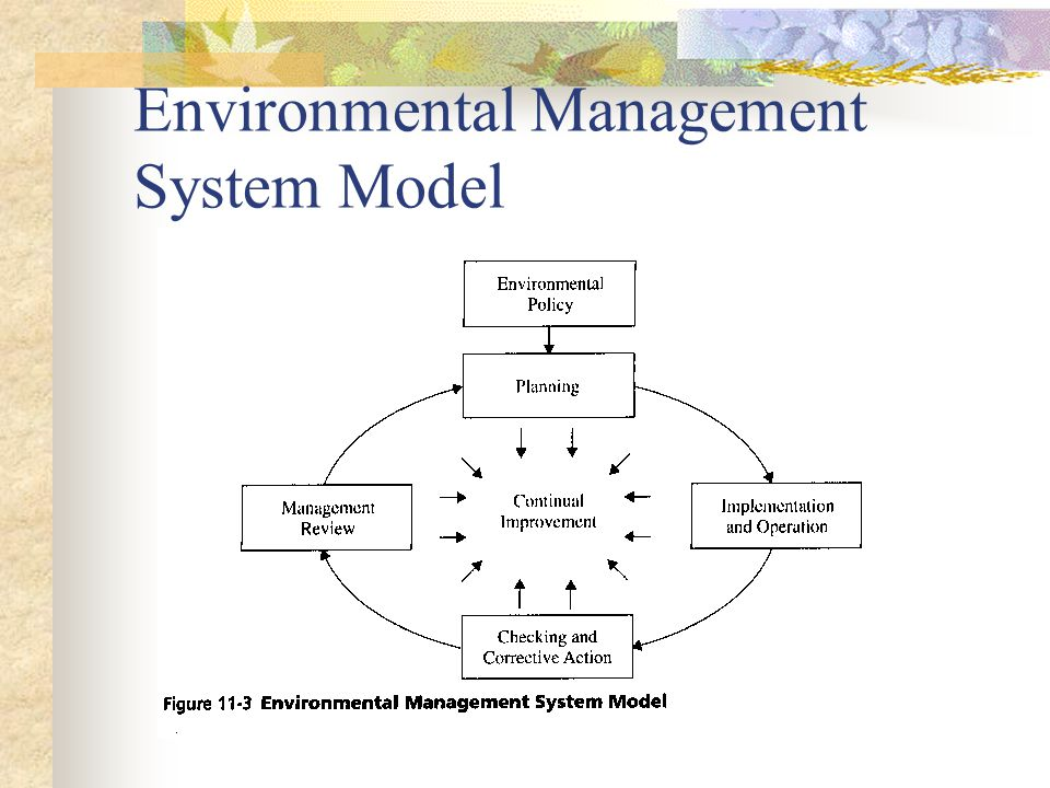 Environmental Management System Model