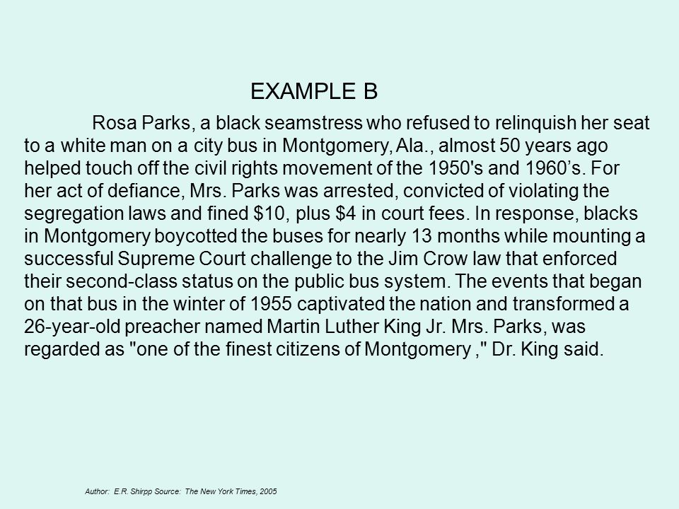 expository essay rosa parks