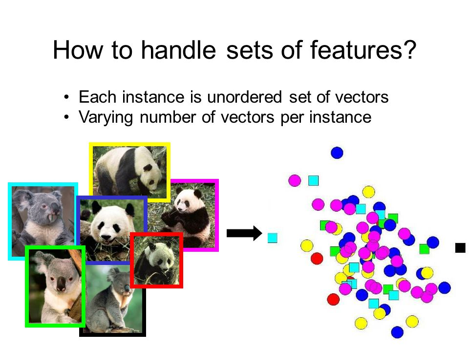 MIT CSAIL Vision interfaces How to handle sets of features.
