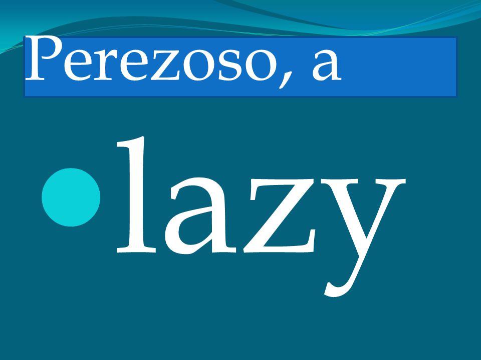 Perezoso, a lazy