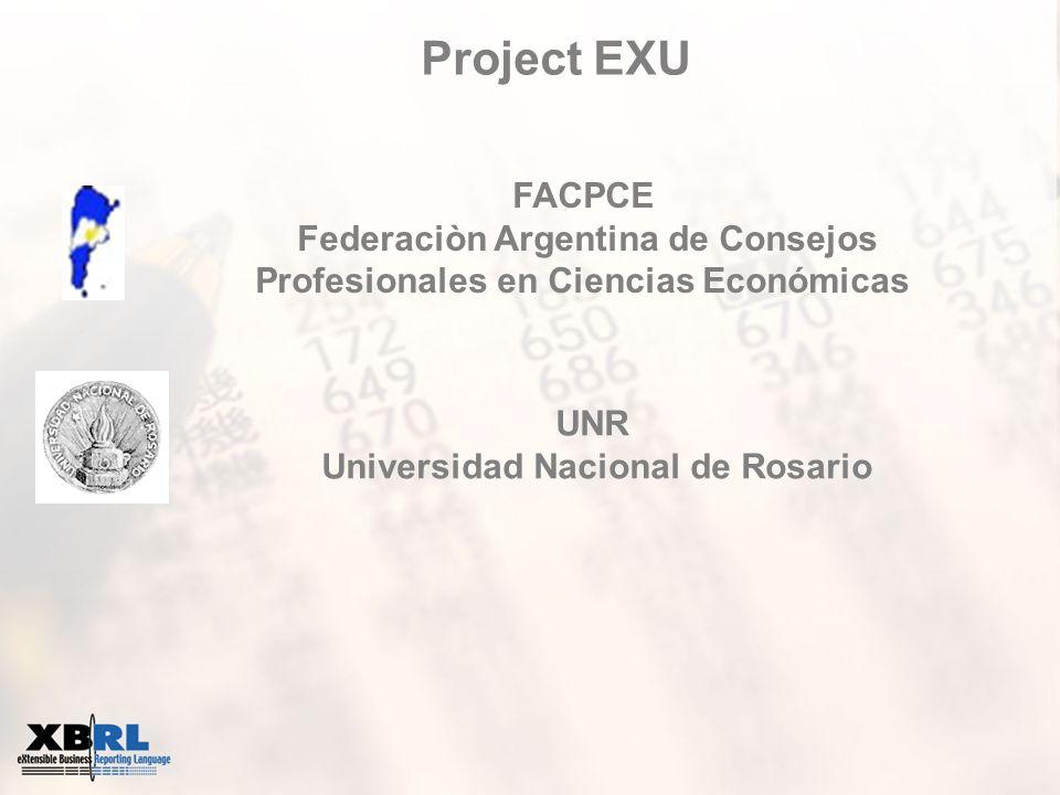 Project EXU FACPCE Federaciòn Argentina de Consejos Profesionales en Ciencias Económicas UNR Universidad Nacional de Rosario