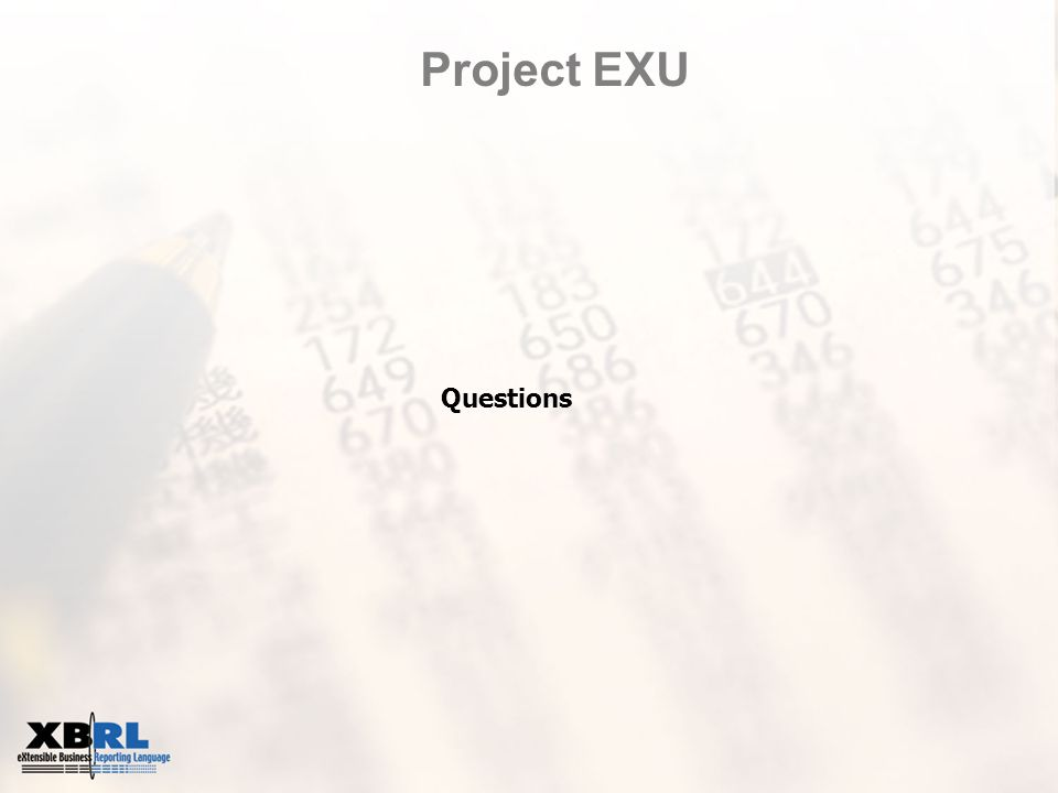 Project EXU Questions