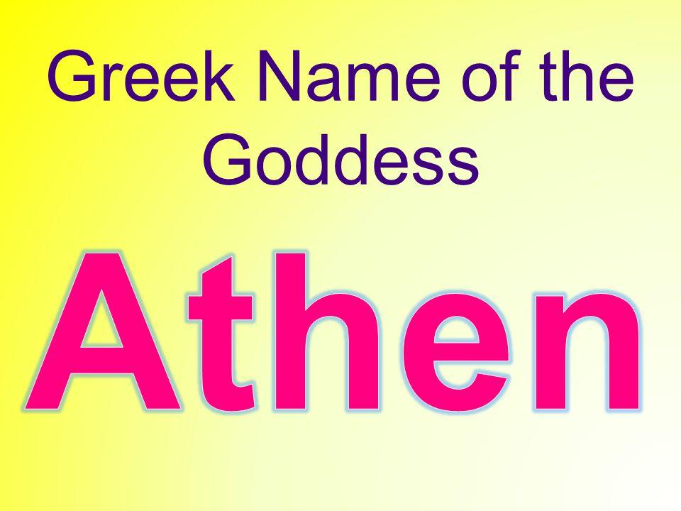 Greek Name of the Goddess