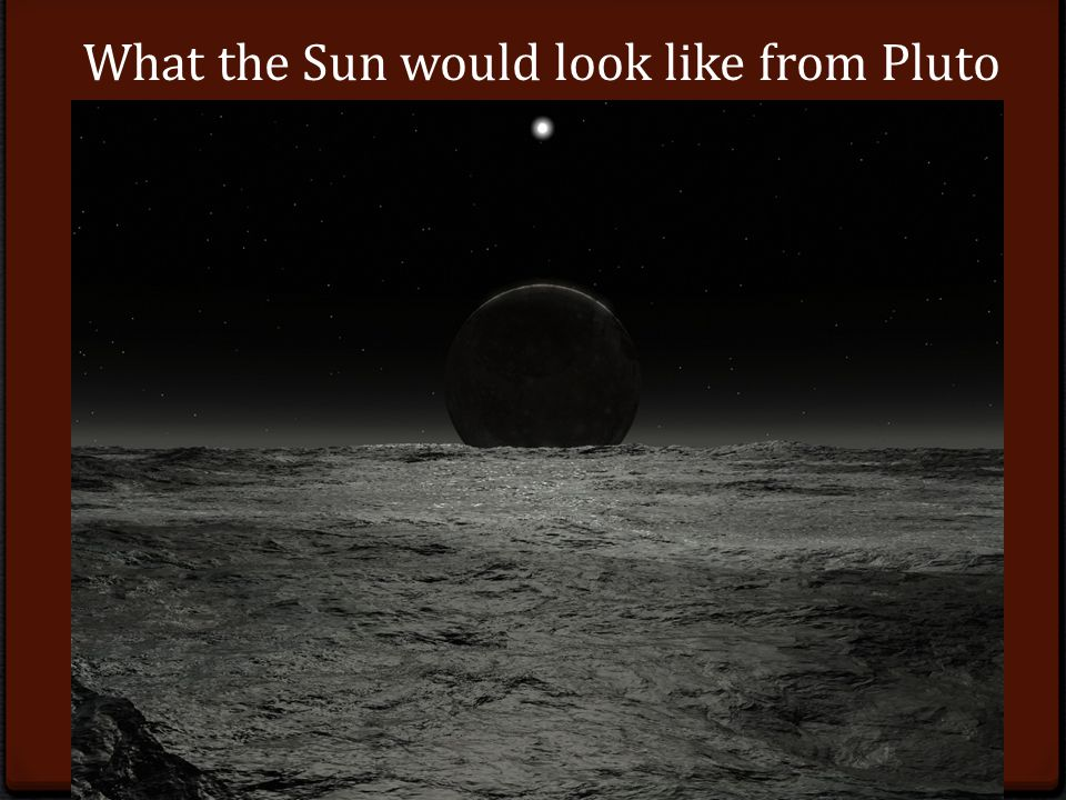 What the Sun would look like from Pluto