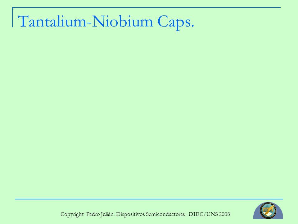 Copyright Pedro Julián. Dispositivos Semiconductores - DIEC/UNS 2008 Tantalium-Niobium Caps.