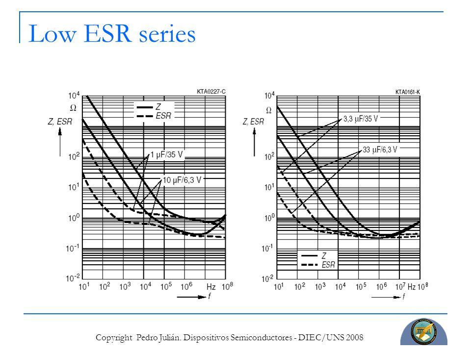 Copyright Pedro Julián. Dispositivos Semiconductores - DIEC/UNS 2008 Low ESR series