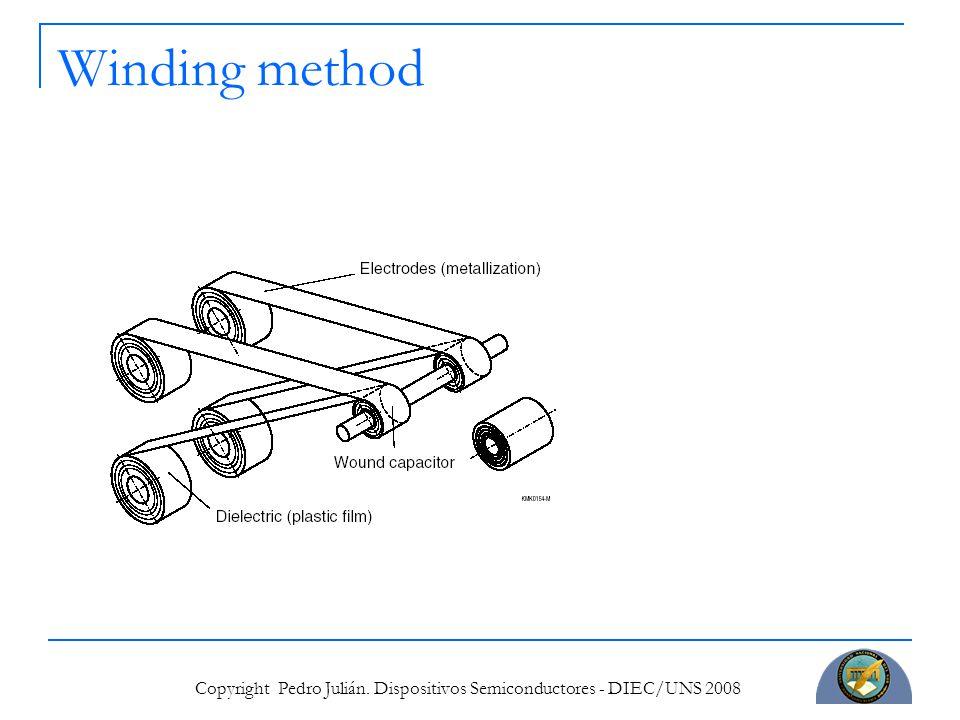 Copyright Pedro Julián. Dispositivos Semiconductores - DIEC/UNS 2008 Winding method