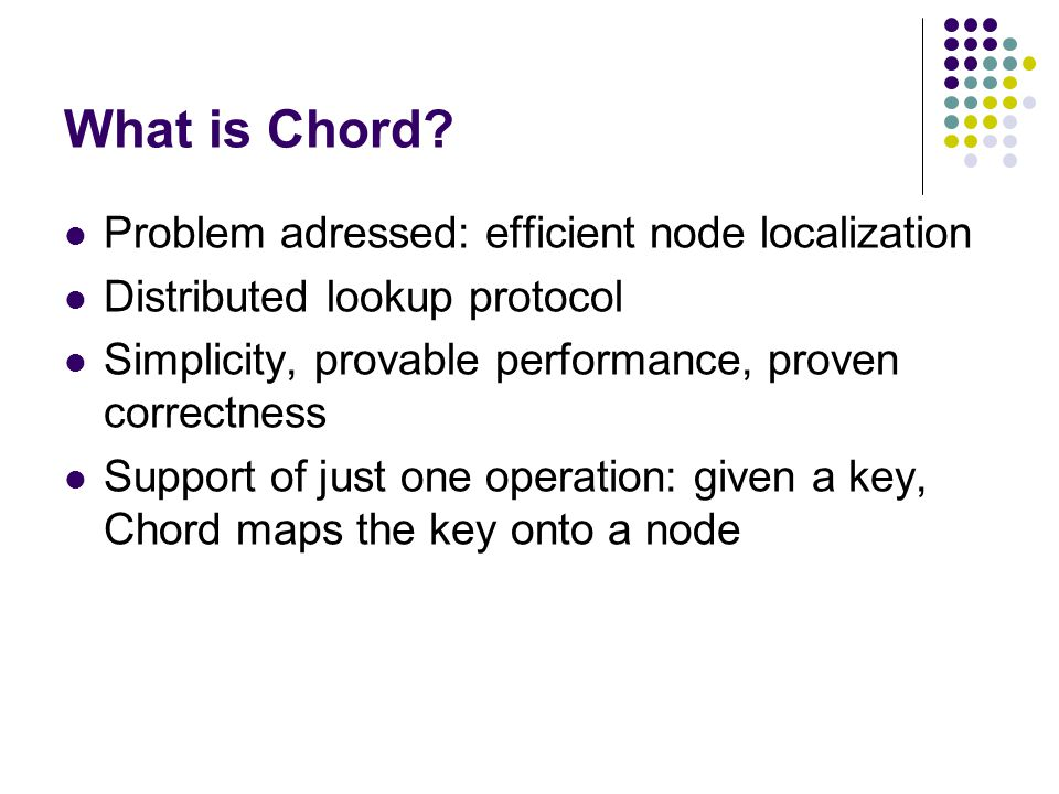 What is Chord.