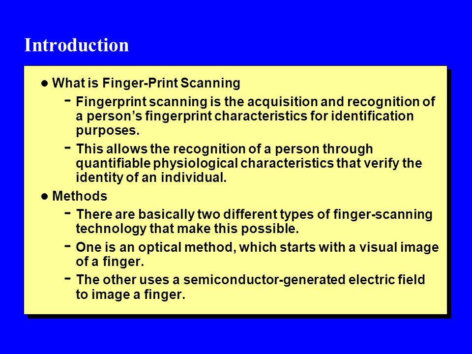 verify fingerprint scanner