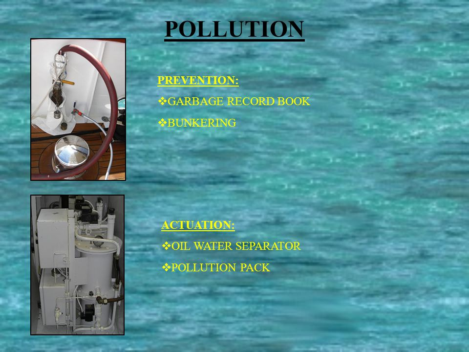 AUXILIAR SYSTEMS  FUEL SEPARATOR  FRESH WATER SYSTEM  SEWAGE SYSTEM  STABILIZERS  DECK EQUIPMENT