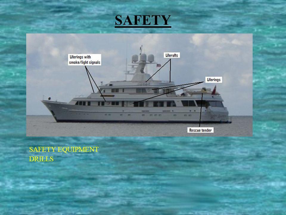 SAFETY SAFETY EQUIPMENT DRILLS