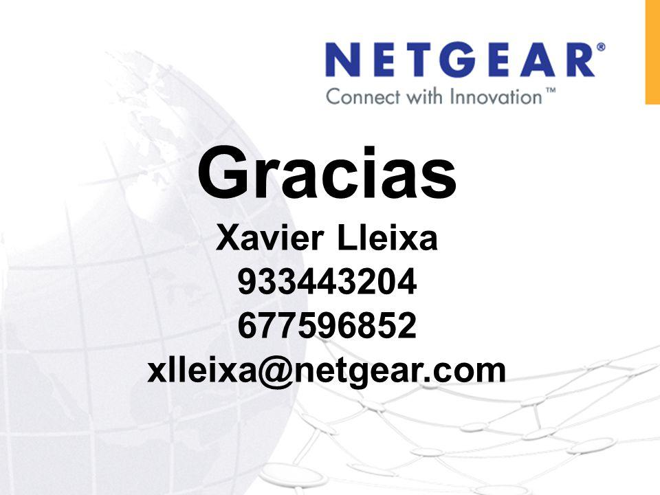 Gracias Xavier Lleixa 933443204 677596852 xlleixa@netgear.com
