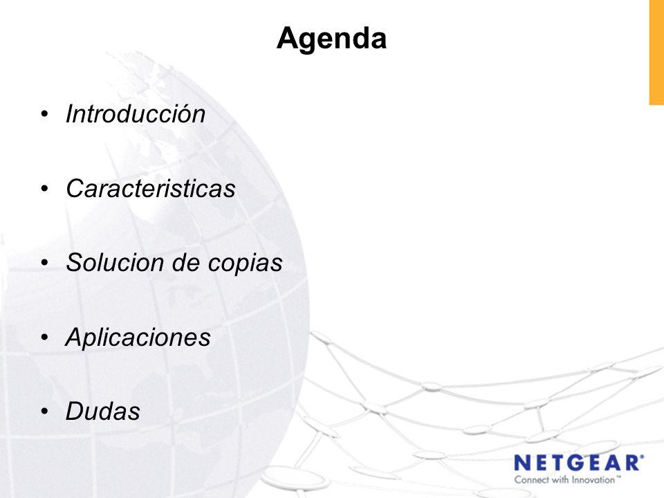 Agenda Introducción Caracteristicas Solucion de copias Aplicaciones Dudas