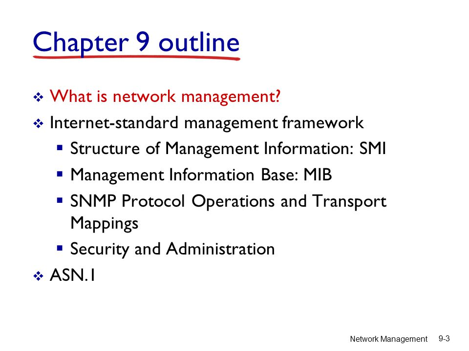 Network Management 9-4 What is network management.