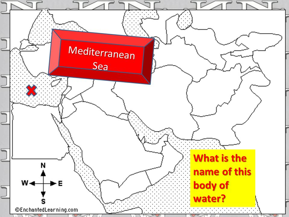 What is the name of this body of water Mediterranean Sea