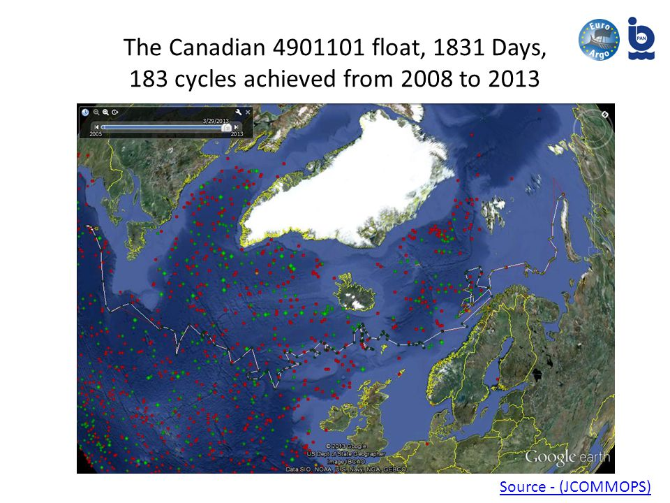 The Canadian float, 1831 Days, 183 cycles achieved from 2008 to 2013 Source - (JCOMMOPS)