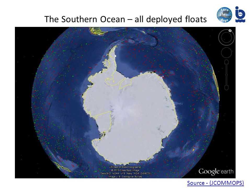 The Southern Ocean – all deployed floats Source - (JCOMMOPS)