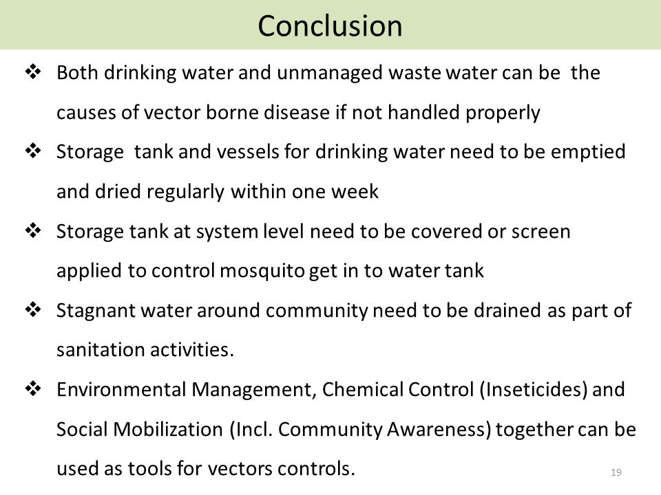 water diseases introduction
