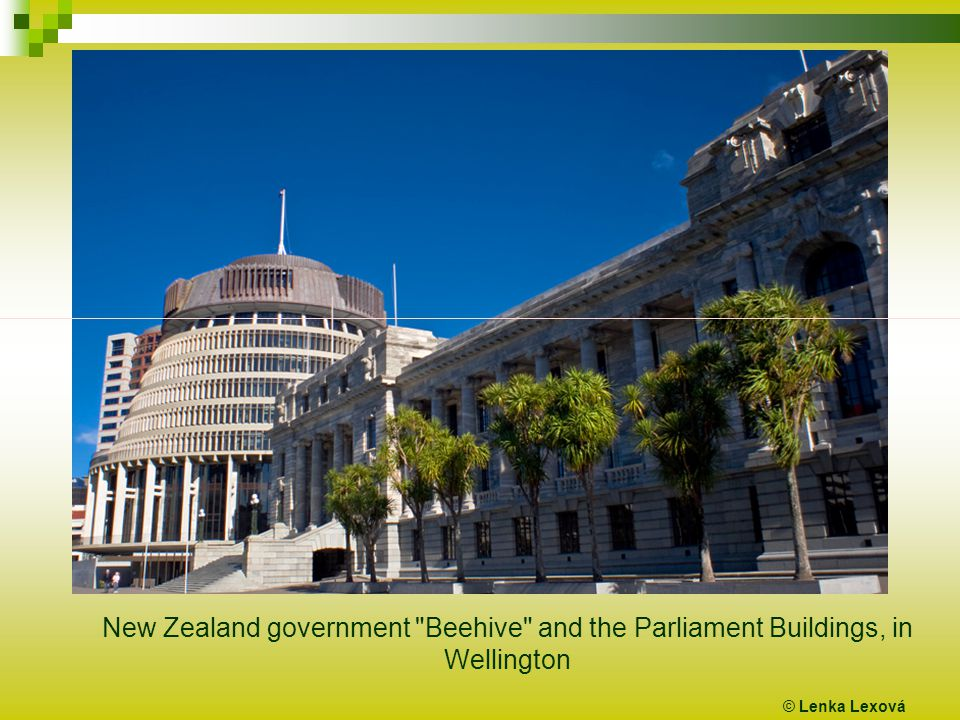 © Lenka Lexová New Zealand government Beehive and the Parliament Buildings, in Wellington