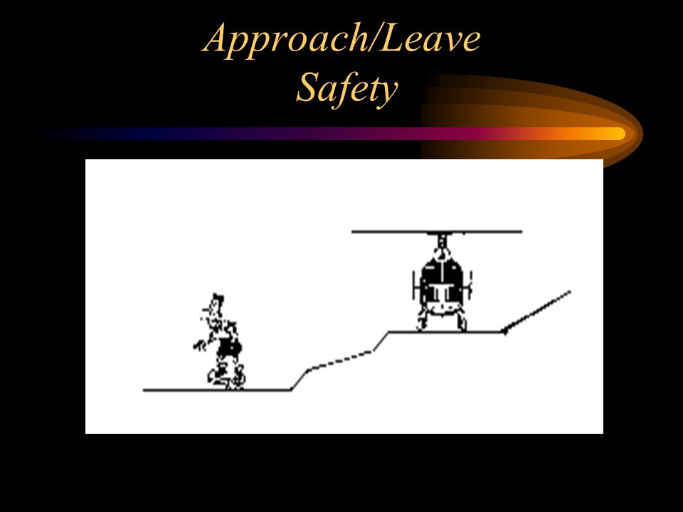 Approach and leave in a crouched position.