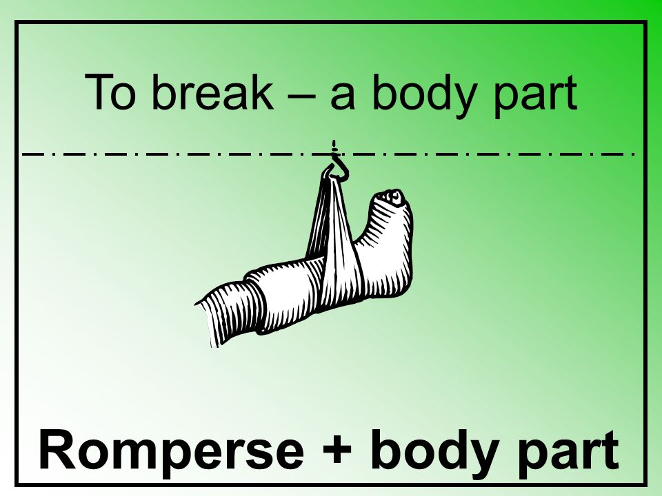 To break – a body part Romperse + body part