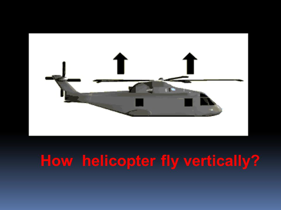 How helicopter fly vertically