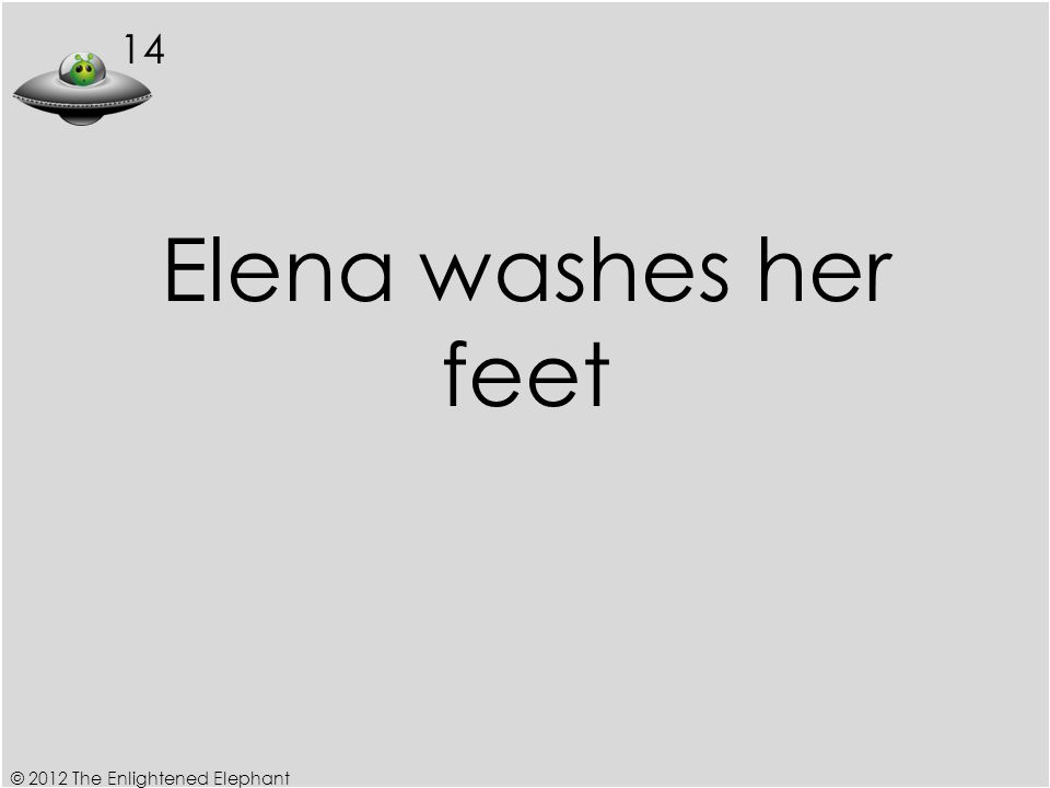 14 Elena washes her feet © 2012 The Enlightened Elephant