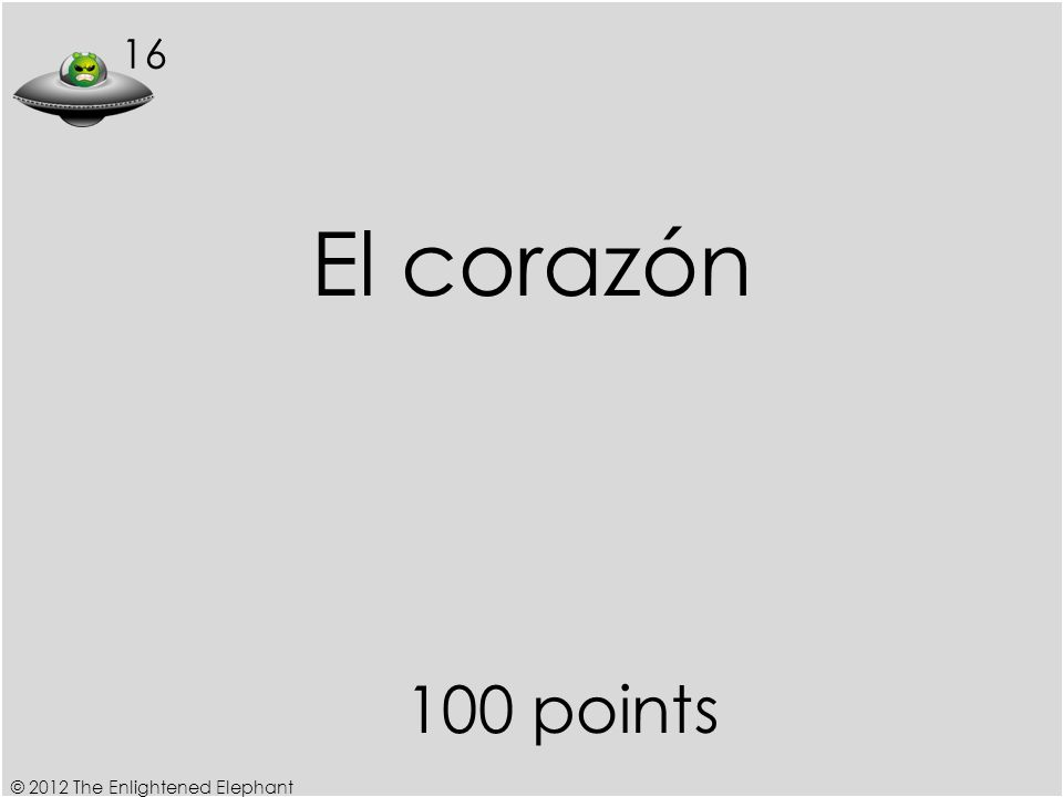 16 100 points El corazón © 2012 The Enlightened Elephant