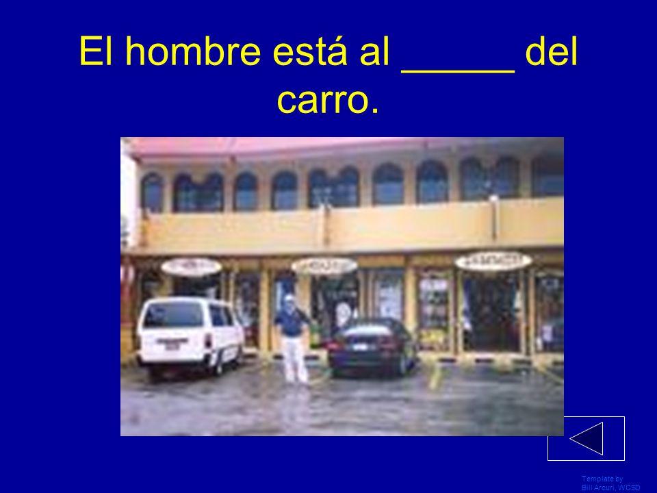 Template by Bill Arcuri, WCSD La zapatería está ____ de la tienda de ropa La tienda de ropa La zapatería