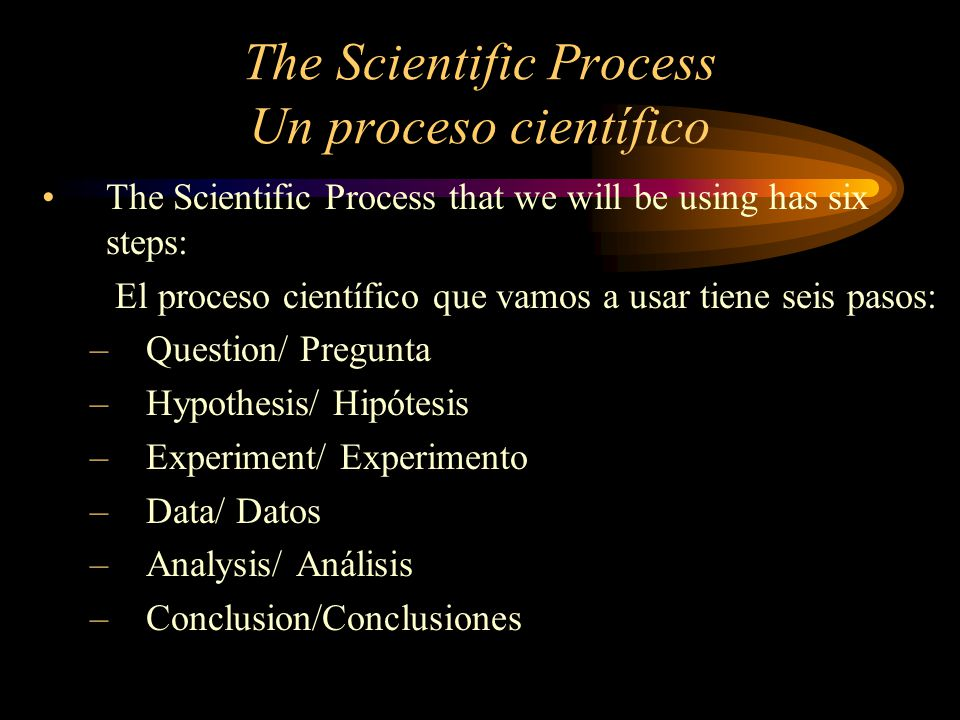 Question Pregunta Question – What is the purpose of the experiment in a measurable question.