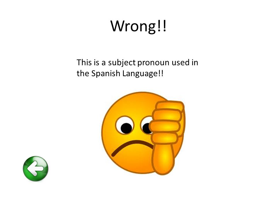 Wrong!! This is a subject pronoun used in the Spanish Language!!