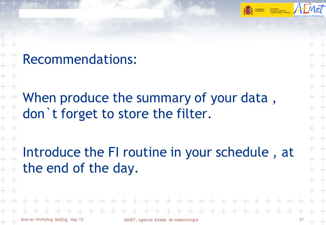 Brewer Workshop Beijing May 15 Recommendations: When produce the summary of your data, don`t forget to store the filter.