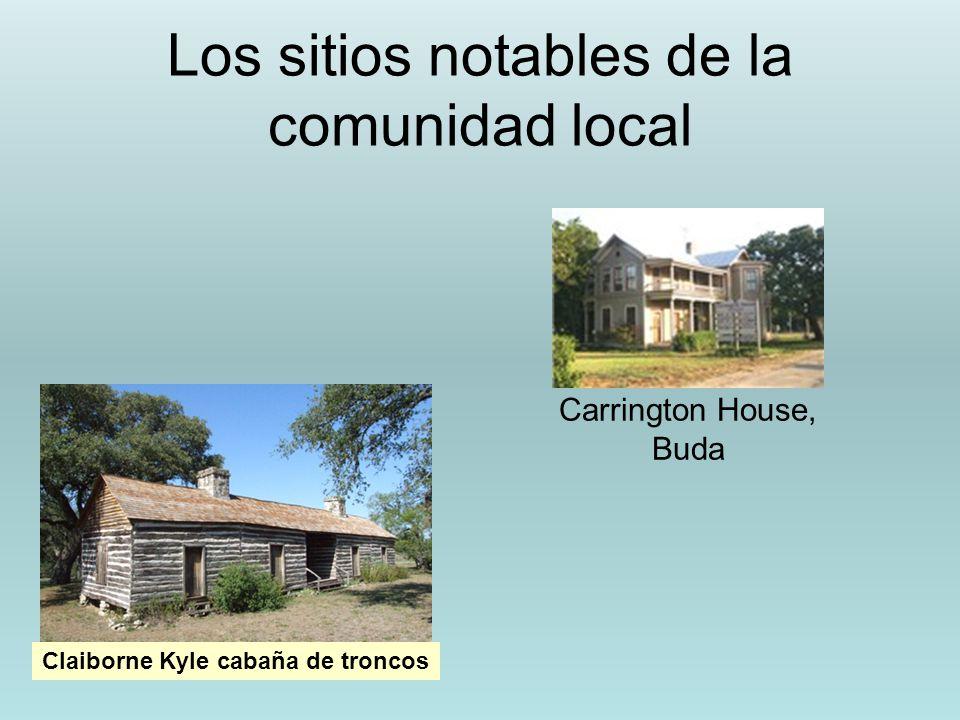 Los sitios notables de la comunidad local Claiborne Kyle cabaña de troncos Carrington House, Buda