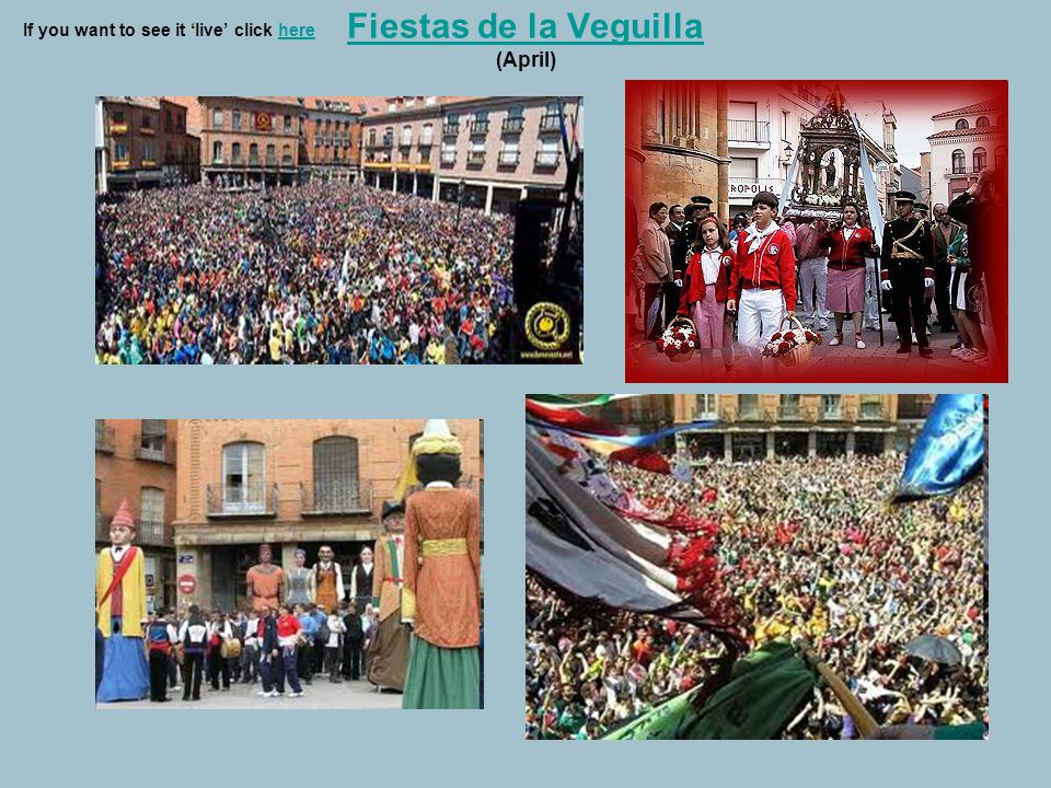 Fiestas de la Veguilla Fiestas de la Veguilla (April) If you want to see it 'live' click herehere