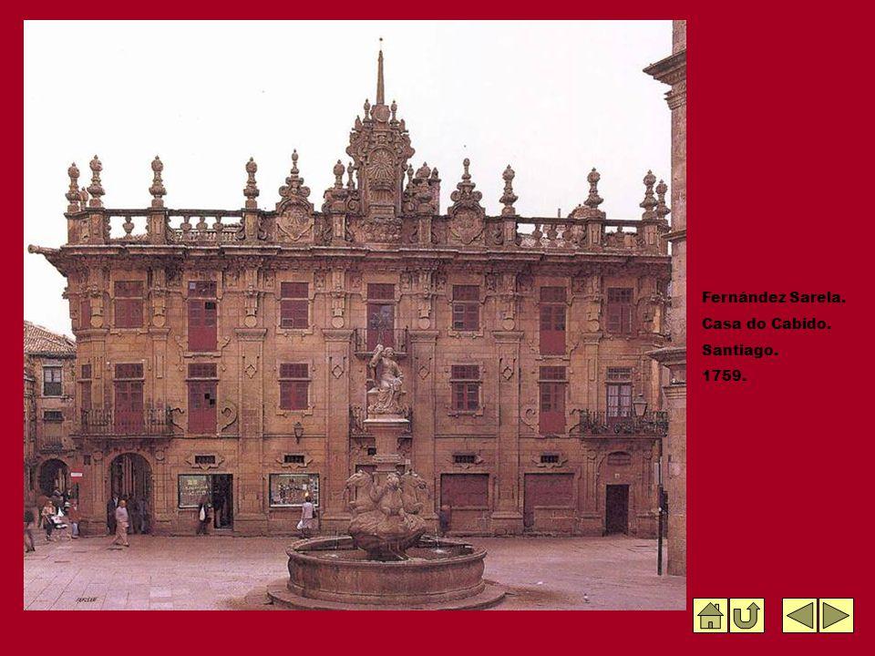 Fernández Sarela. Casa do Cabido. Santiago. 1759.