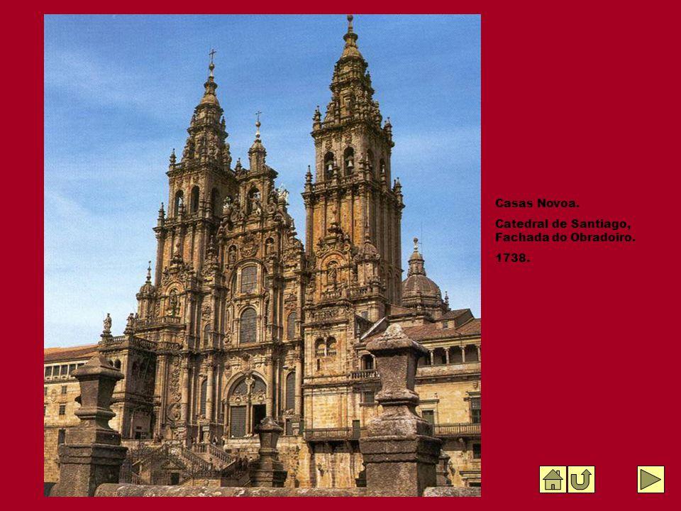 Casas Novoa. Catedral de Santiago, Fachada do Obradoiro. 1738.