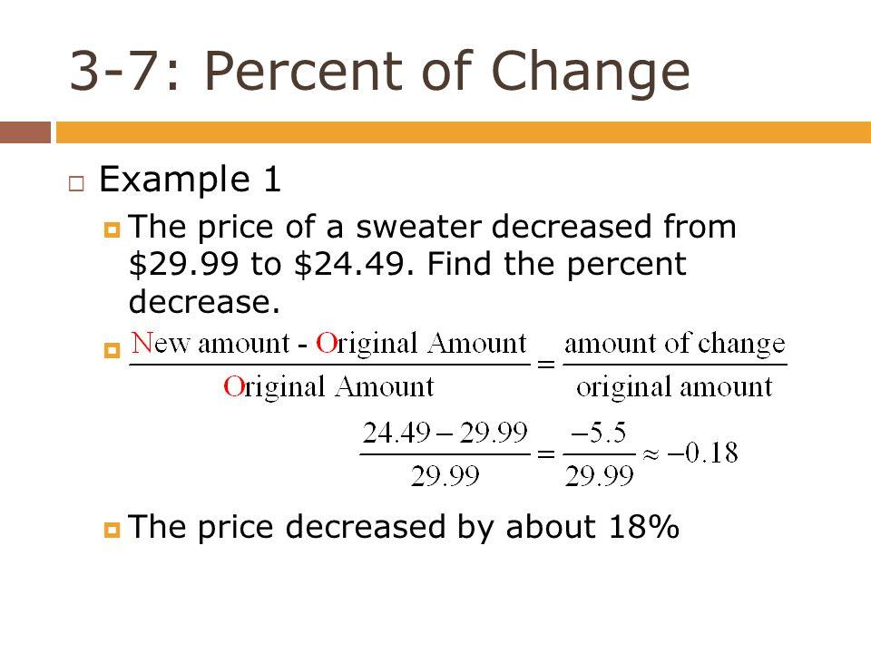 Percent Increase And Decrease Worksheet Worksheet – Percent Change Worksheet