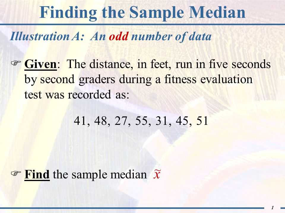 1 finding the sample median given the distance in feet run 1 1 finding the sample median ccuart Gallery