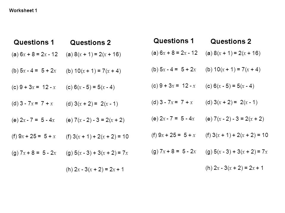 Variables On Both Sides Of The Equation Worksheet Free Worksheets ...