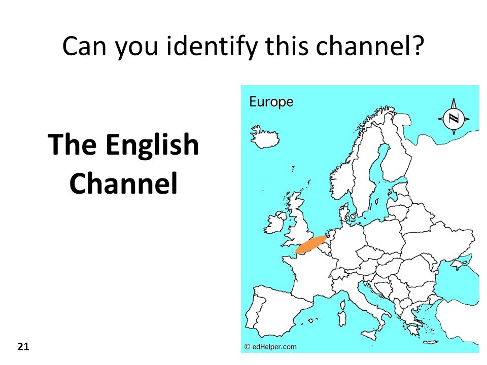 Can you identify this channel The English Channel 21