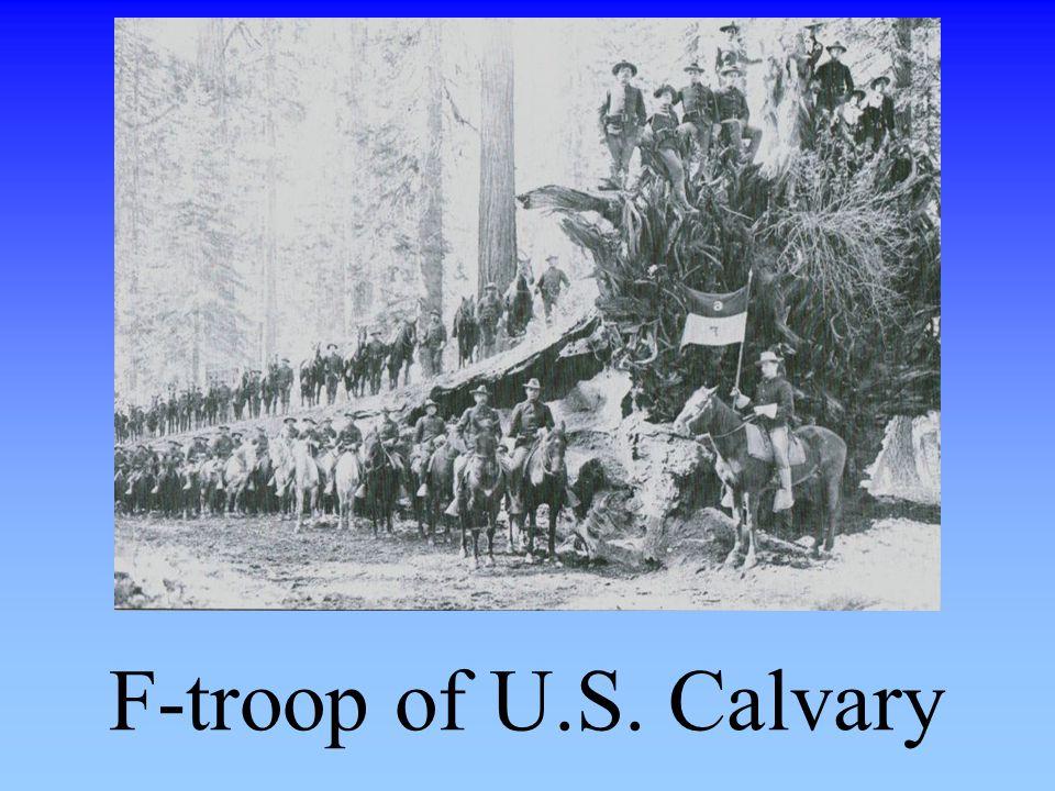F-troop of U.S. Calvary