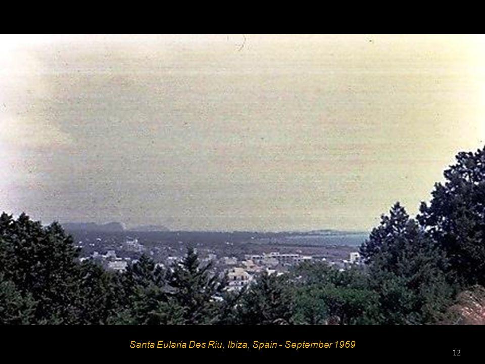 Santa Eularia Des Riu, Ibiza, Spain - September 1969 12