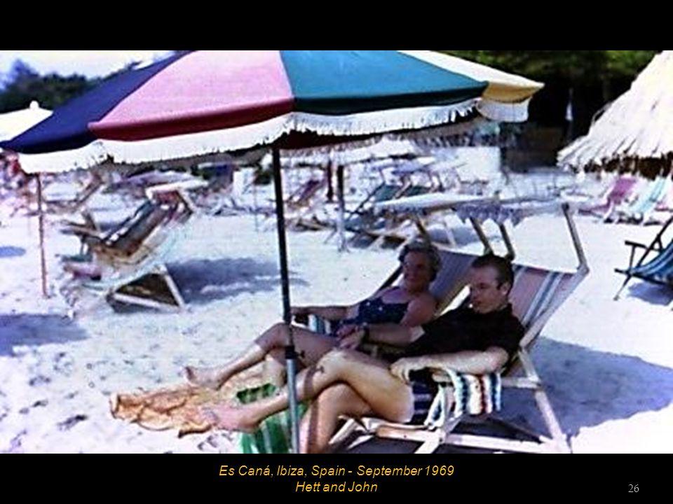 Es Caná, Ibiza, Spain - September 1969 Hett and John 26