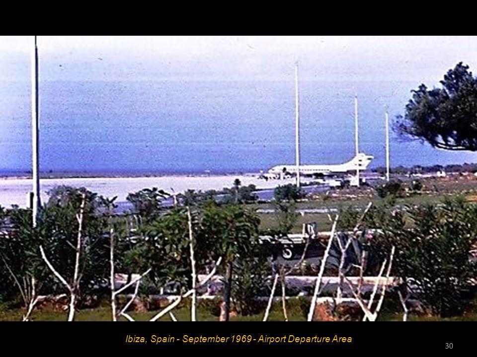 Ibiza, Spain - September 1969 - Airport Departure Area 30