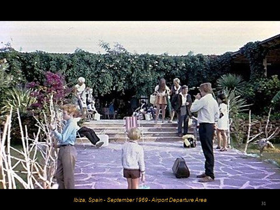 Ibiza, Spain - September 1969 - Airport Departure Area 31