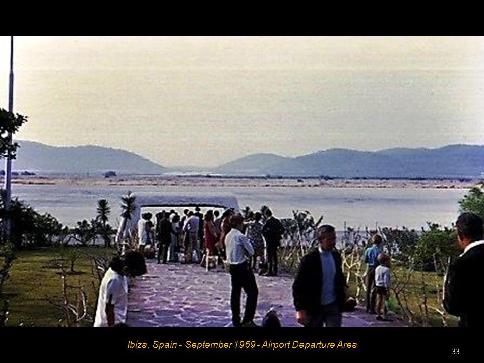 Ibiza, Spain - September 1969 - Airport Departure Area 33