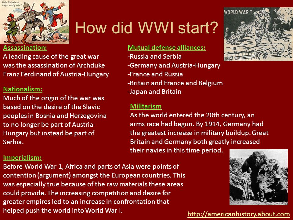 nationalism militarism and alliances at the root of the great war The other causes of the war was imperliasm, militarism, nationalism and alliances that were formed these were the causes of world war one also, everyone wanted to be the best country, which links back to all four causes and aspects of the events.
