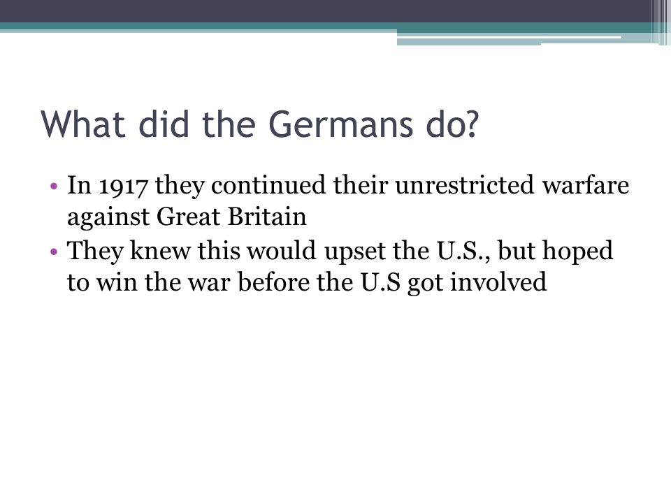 What did the Germans do.